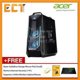Acer Predator Orion P09-600-8700K Gaming Desktop PC (i7-8700K 4.70GHz,2TB+256GB,16GB,GTX1080Ti-11G,W10) - Black