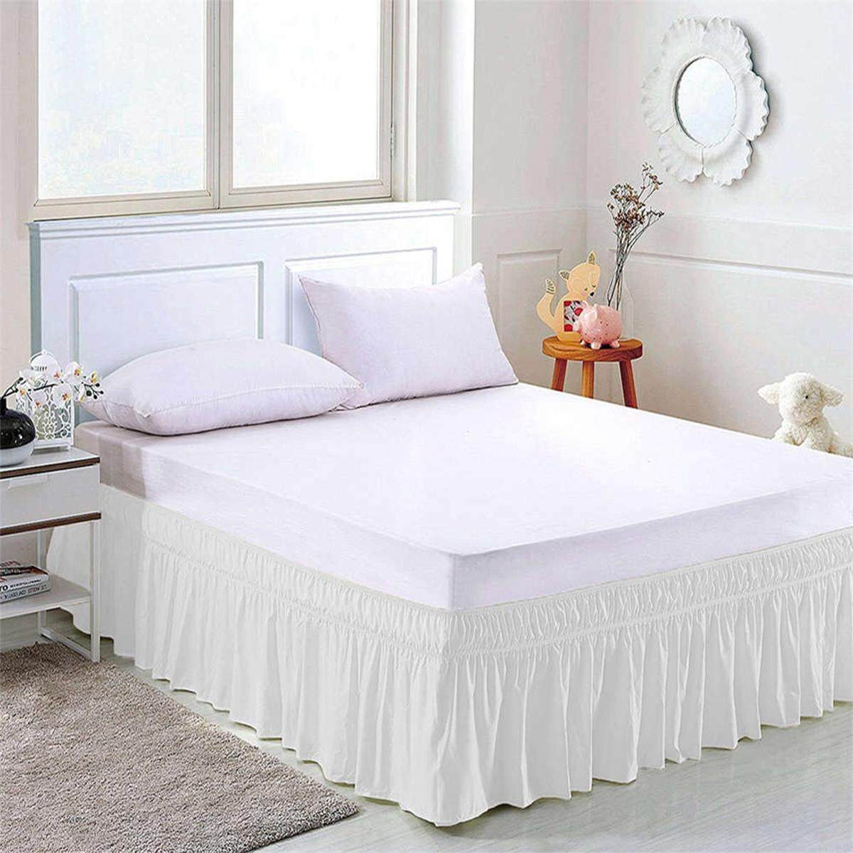 the sand products line sheets linen on skirt in single skirts beige valance bedskirtinsand bed