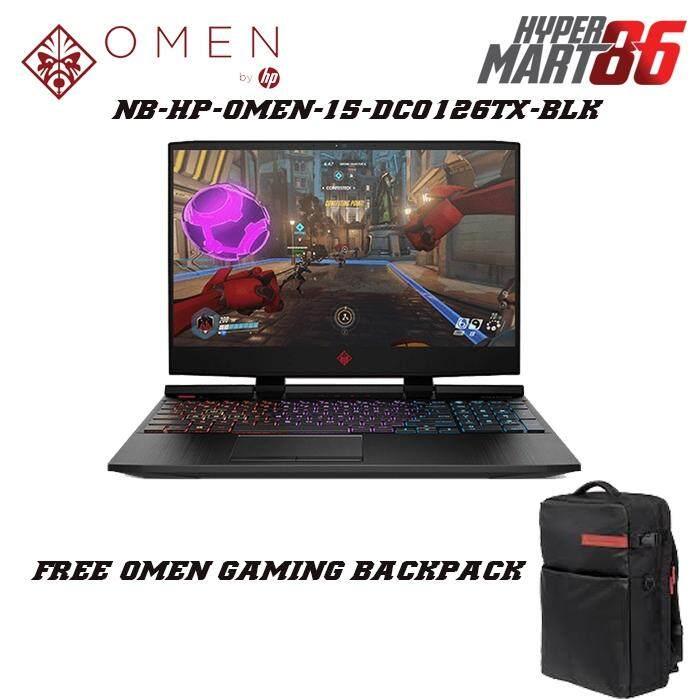 HP OMEN 15-DC0126TX Notebook Black (15.6inch/Intel i7/8GB/1TB+256GB SSD/GTX1060 6GB) Malaysia