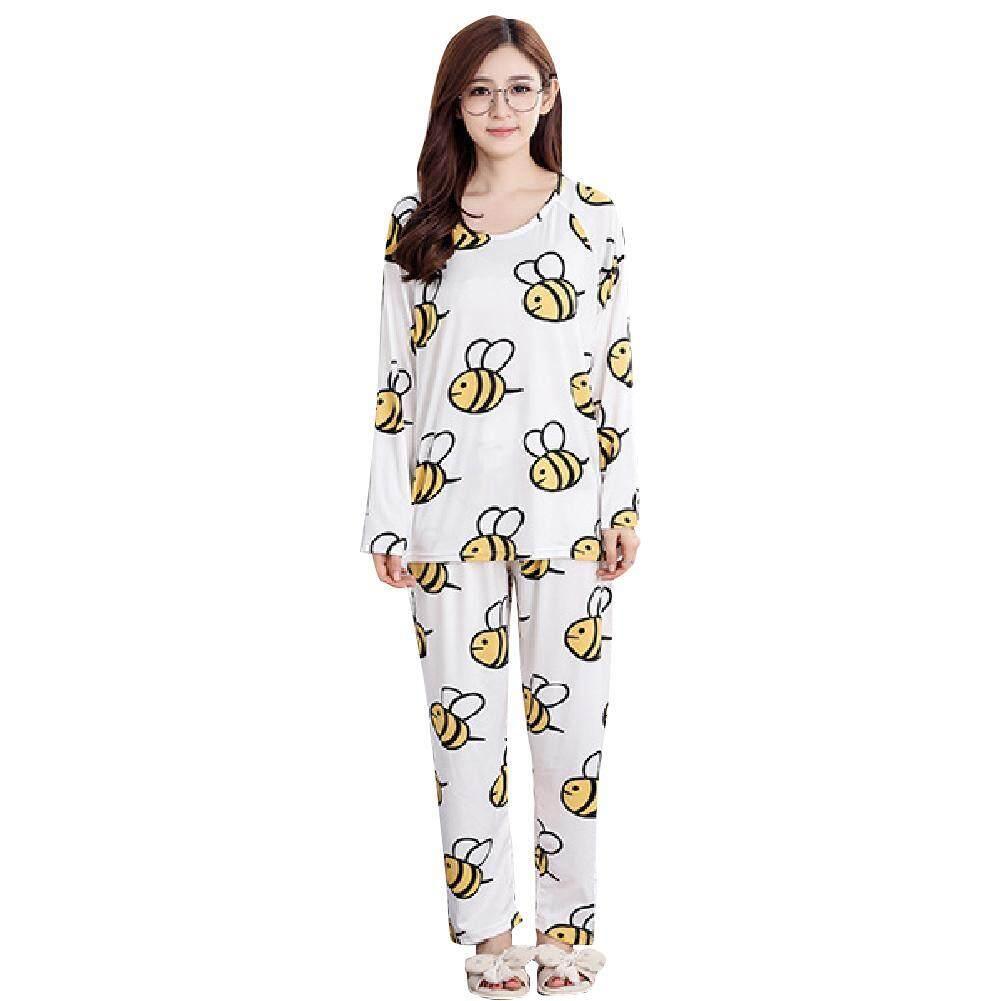 Women Cute Cartoon Printing Leisure Homewear Pajama Sleepwear Loungewear Set dba8e04772