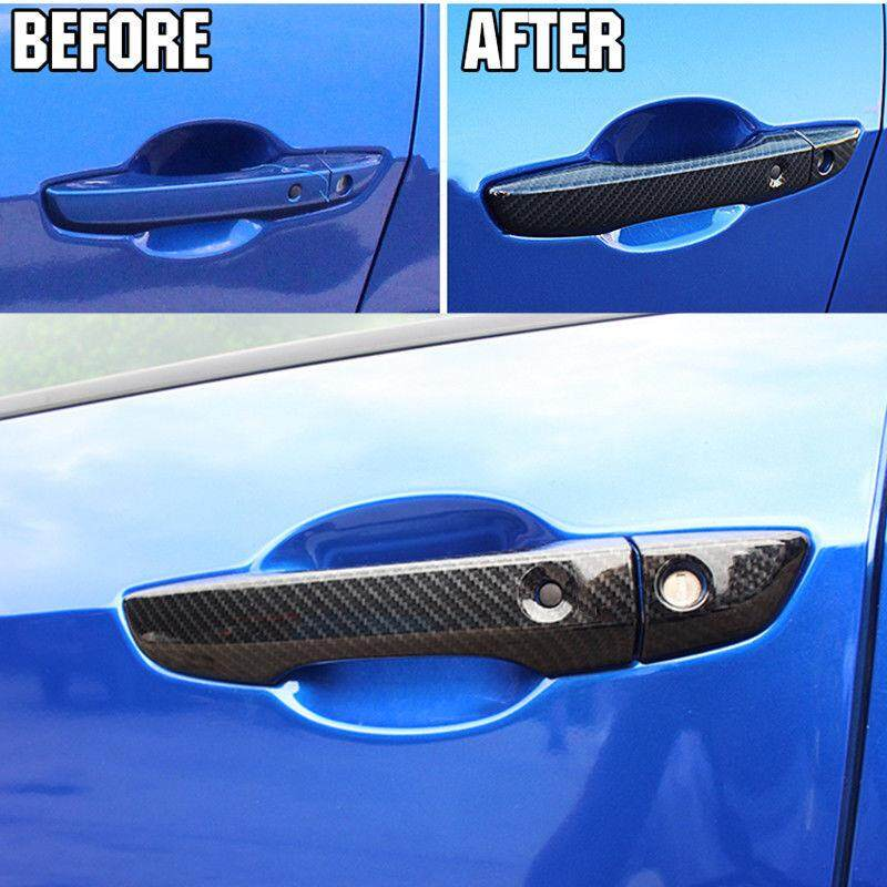 Gracekarin Online 8pcs Set Carbon Fiber Door Handle Covers For Honda Civic 10th 2016~2017 By Gracekarin Online.