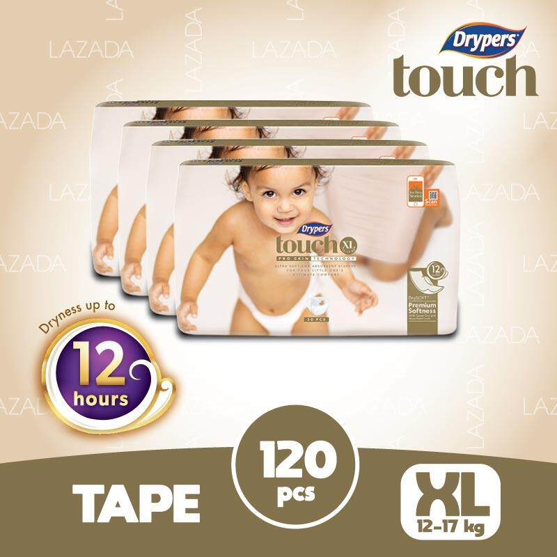 Drypers Touch Jumbo Pack Xl(4x30s) By Lazada Retail Drypers.