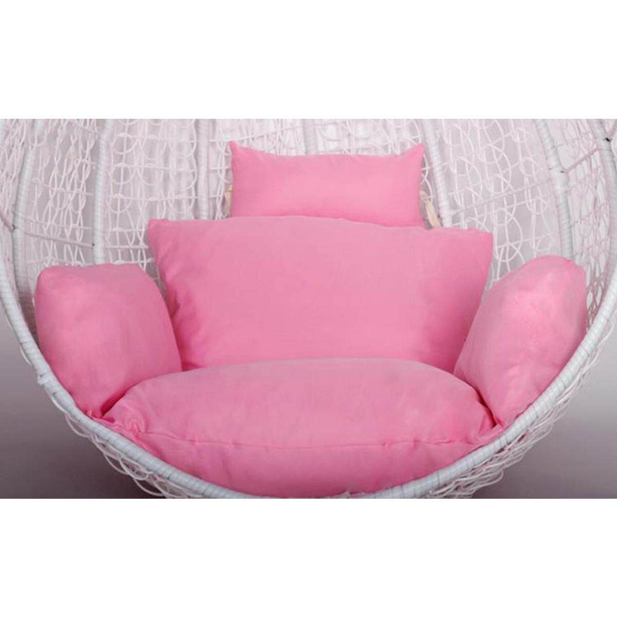 Indoor Furniture Hanging Chair Wicker Seat Detachable Cushions Pad &pillow By Elec Mall.