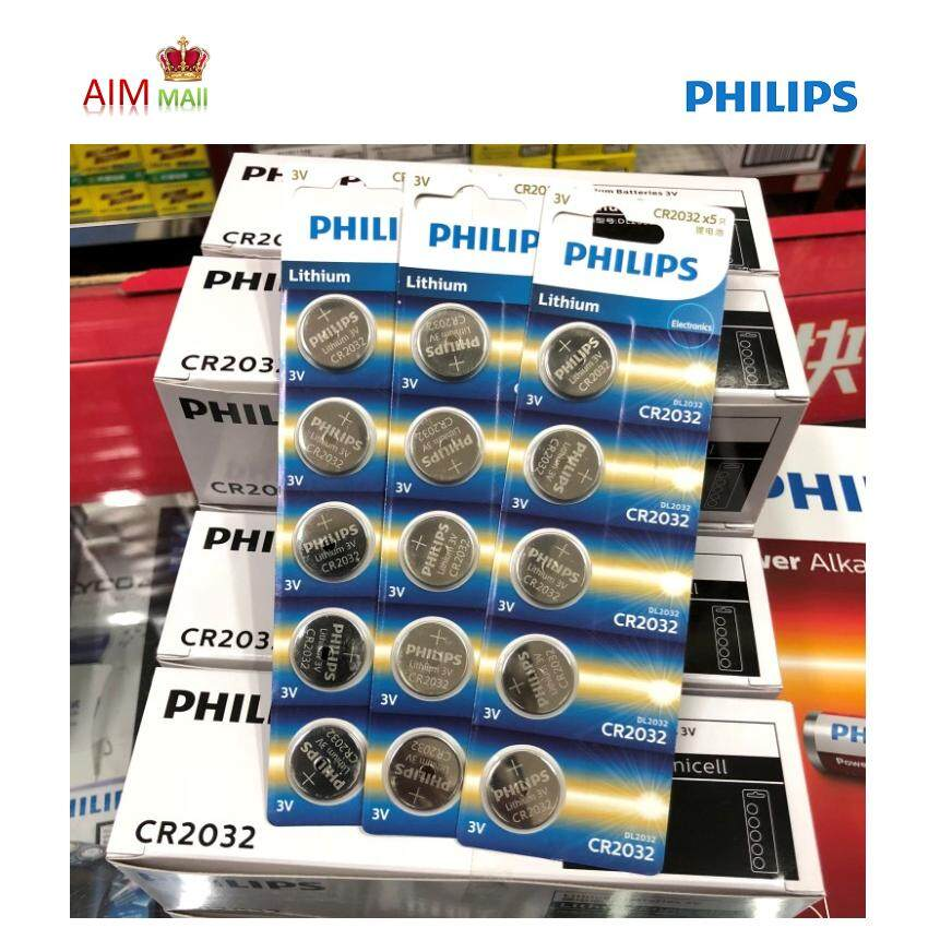 PHILIPS CR2032 3V Lithium Battery (5 cells pack) Malaysia