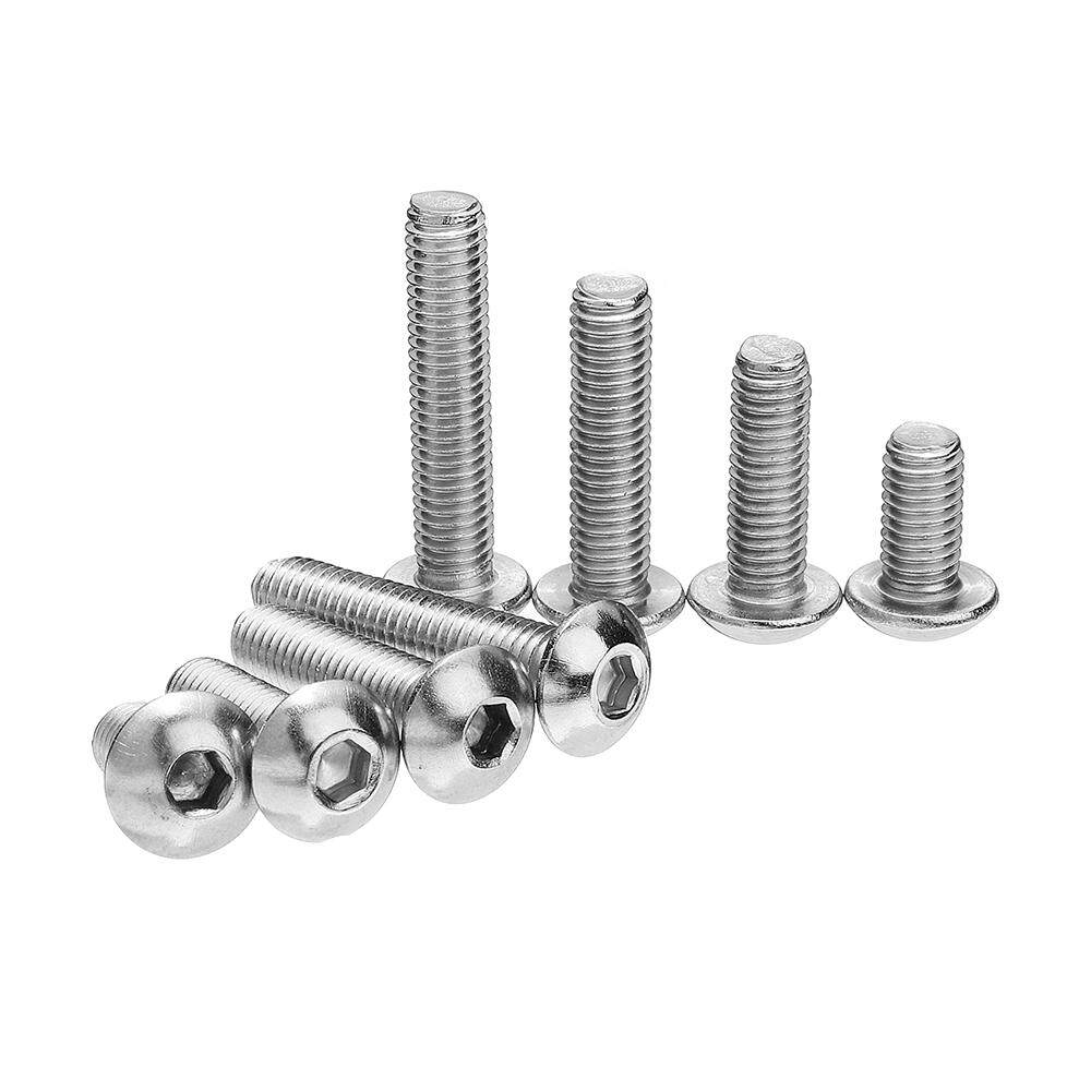 Suleve M5SH6 50Pcs M5 Stainless Steel Hex Socket Button Head Screw Bolt 12mm Optional Length