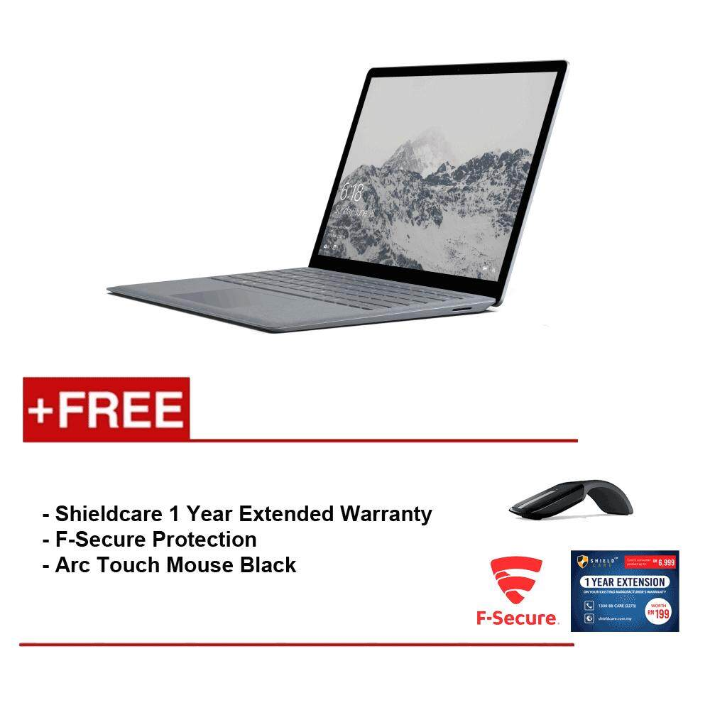 Surface Laptop Core i5/8GB RAM - 256GB + Shield Care 1 Year Extended Warranty + F-Secure End Point Protection + Arc Touch Mouse Malaysia