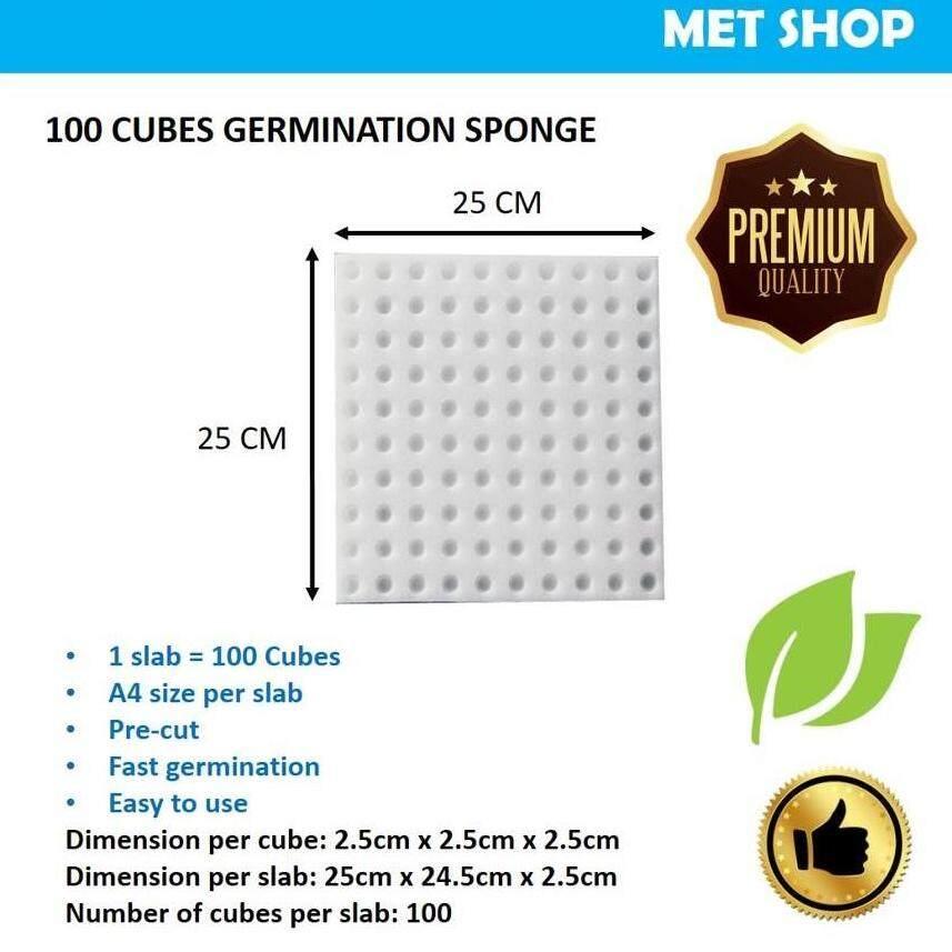 100cubes Premium Germination Sponge for Hydroponic and Aquaponic - 2pcs pack