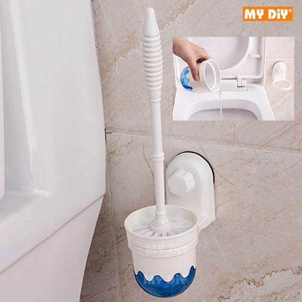MYDIYHOMEDEPOT - Powerful Suction Toilet Brush Wall-Mounted