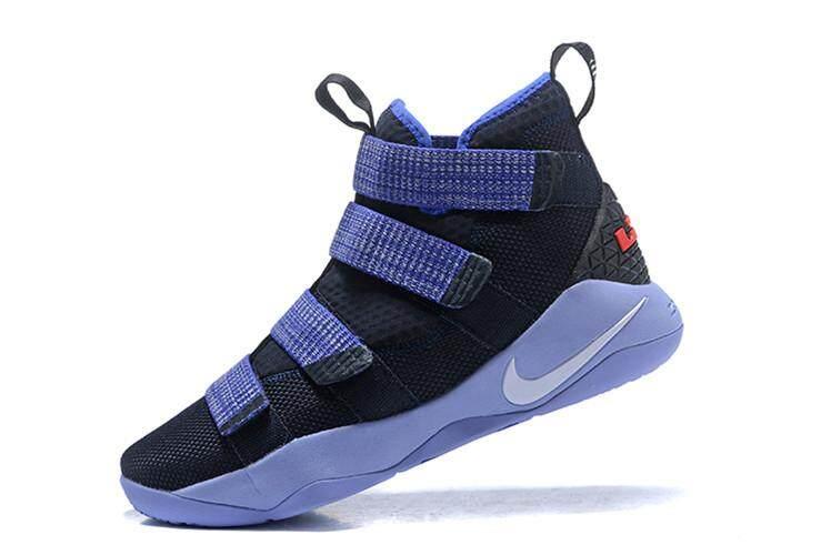 e74f894b15c Black Dark blue LeBron Soldier XI Mid Top LeBron James 11 Offical LBJ  Cavaliers  23
