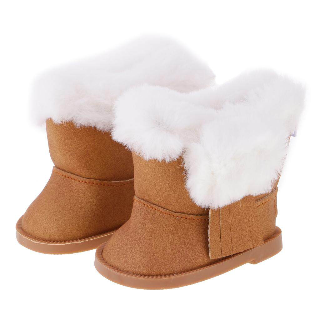 Bolehdeals Stylish Outfit Shoes Sticky Strap Leather Shoes/snow Zip Boots For 18 American Girl Our Generation My Life Dolls Dress Up Accs By Bolehdeals.