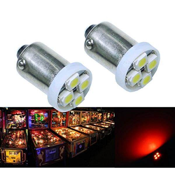 Pa 10pcs 1893 44 47 756 1847 Ba9s 4smd Led Wedge Pinball Machine Light Bulb Red-6.3v By Buyhole.