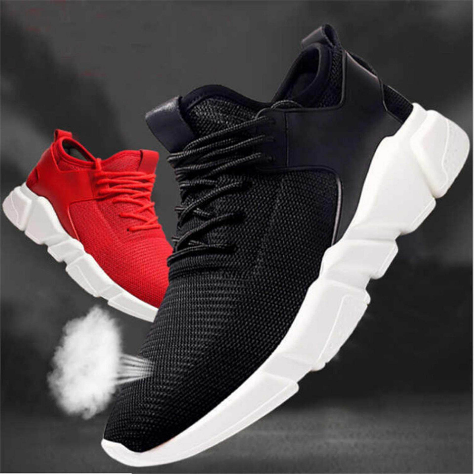Mens Shoes For The Best Price In Malaysia Sepatu Sneakers Pria Rc121 Breathable Casual Sports Athletic Running Black 40