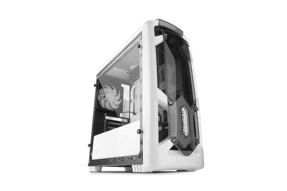 Segotep Polar Light M-ATX Gaming Case - White Malaysia