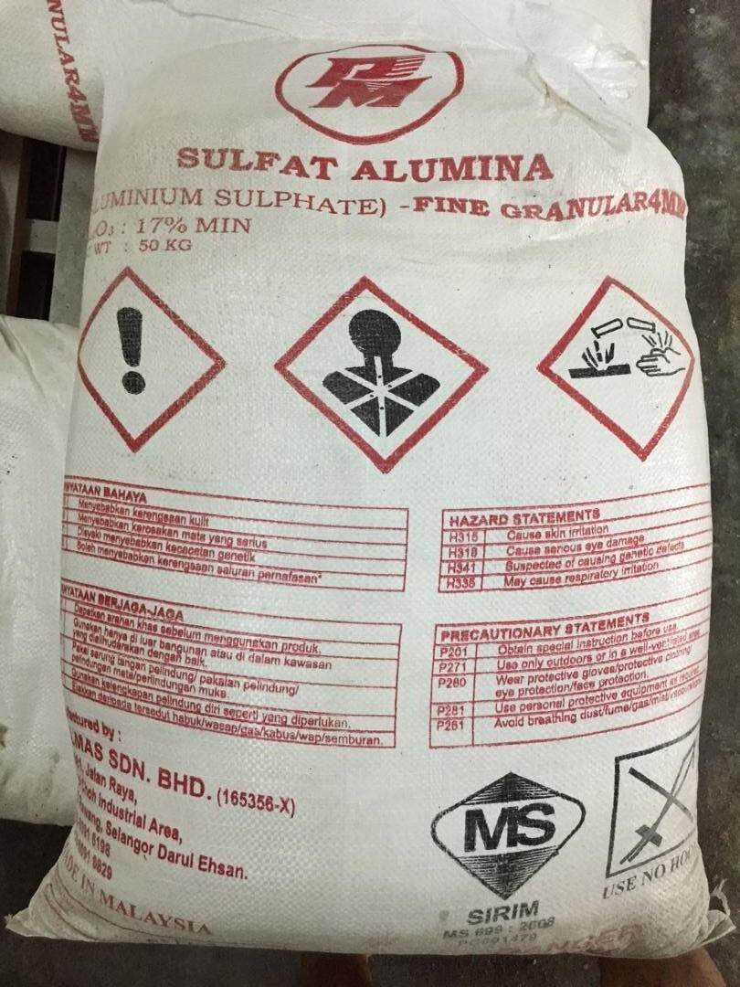 Aluminium Sulphate / Tawas / Alum 50KG for swimming pool Powder Forms- Pool Flocculant / Water clarifier