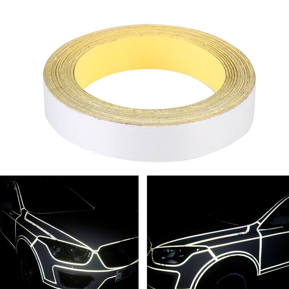 For Car Moto Body Reflective Tape Film Sticker Decal Glow in the Dark Red Strips