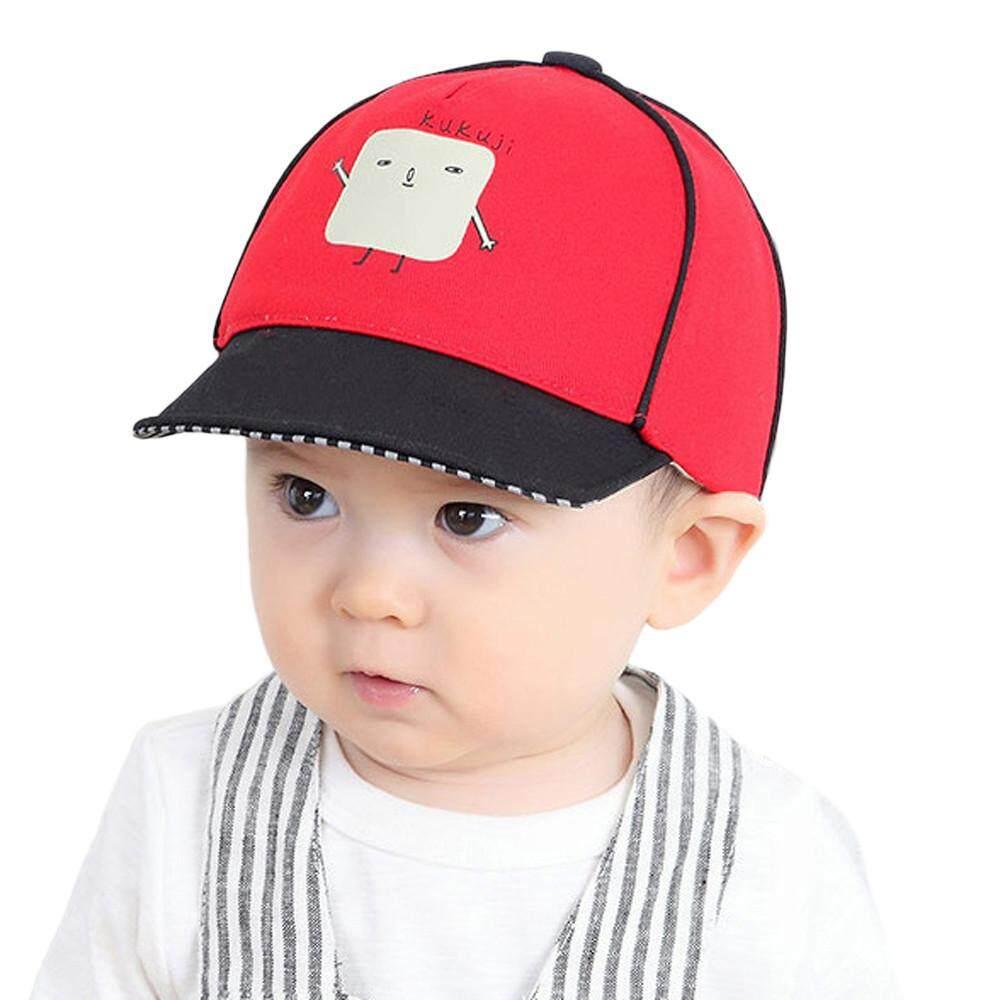 docesty Cute Infant Kids Bongrace Hat Peak Robot Printing Baseball Cap  Sunhat 8b790a05833c