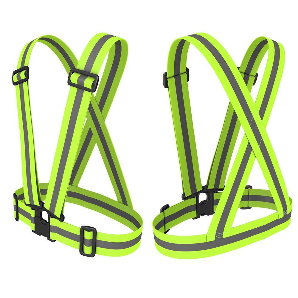 Green Safety Belt High Visibility Reflective Vest Waistcoat