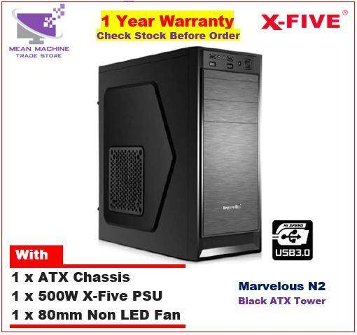 #X-Five Marvelous N2 ATX Chassis (500W PSU + 8cm Fan Included)# Malaysia
