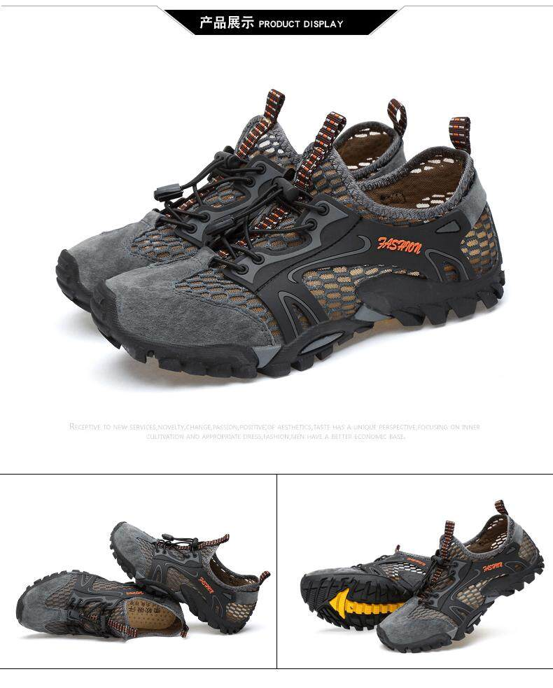 d981d71f31e2af Specifications of Men Water Proof Hiking Shoes Climbing Breathable Outdoor  Sneaker Lightweight Mountain Trekking Trail Mesh Sport Shoes
