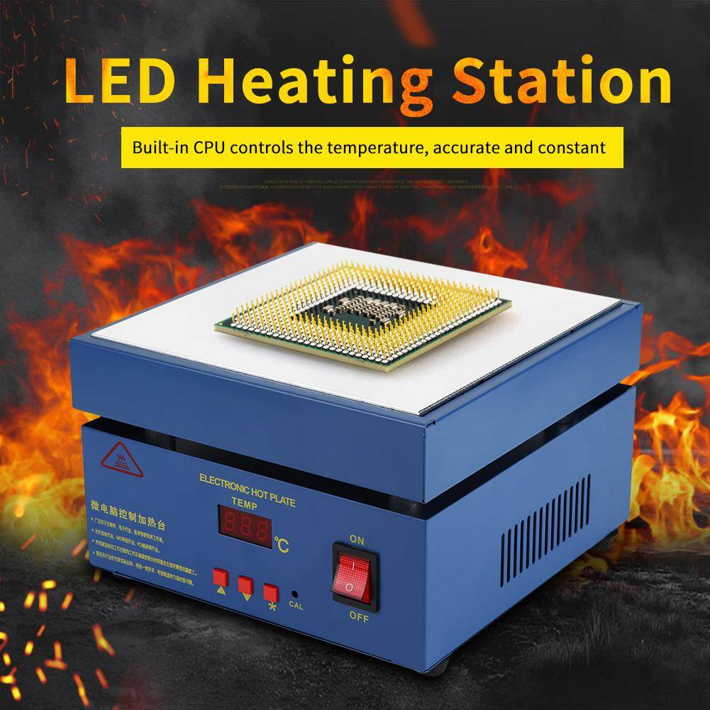 200*200mm LED Microcomputer Electric Heating Plate Preheating Station 800W (UK Plug 220V)