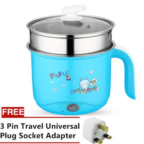 Stainless Steel Rabbit Cartoon 2 Heat 1.8l Multi Functional Electric Steamboat Cooker (blue) By Blisshome Online Shop.