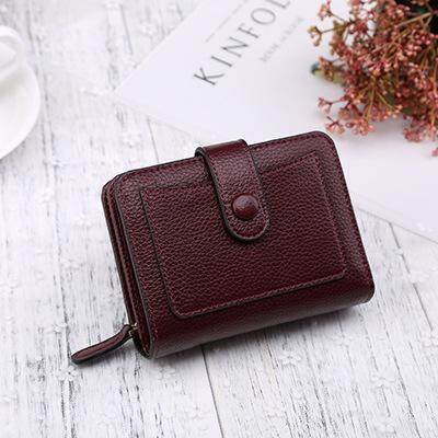 Korea leather women wallets hasp small coin pocket purse foldable cards holders luxury brand wallet