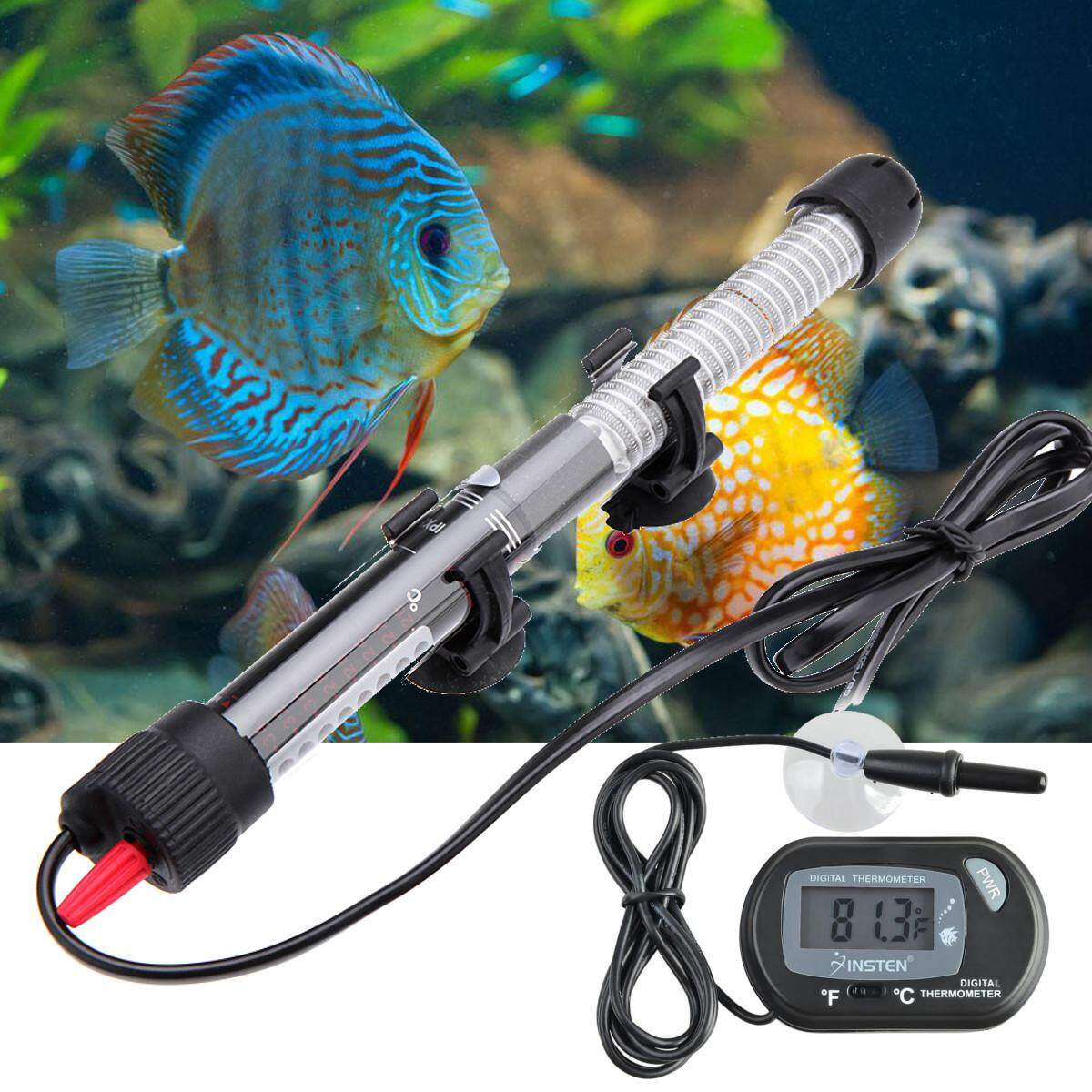 Aquarium Heater Submersible Fish Tank Water + LCD Thermometer # 100W