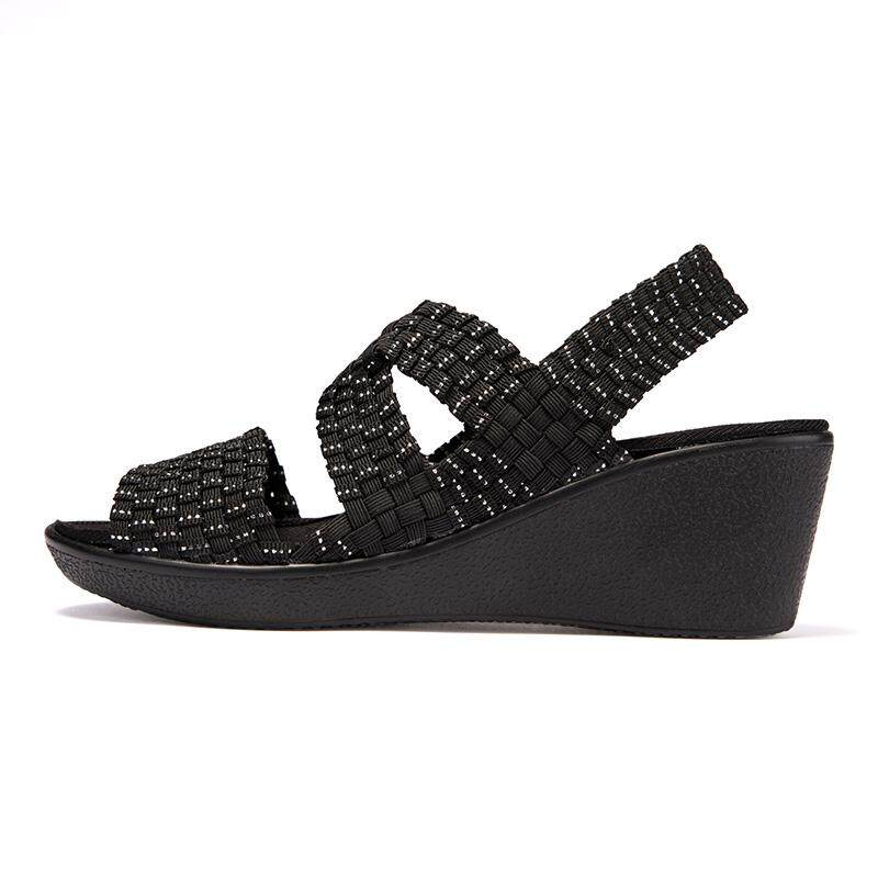 Fashion Sandals Women Summer Shoes Woman Wedges Platform Sandals Fashion Flange Rome Sandals White Black Women Shoes By Anron C.