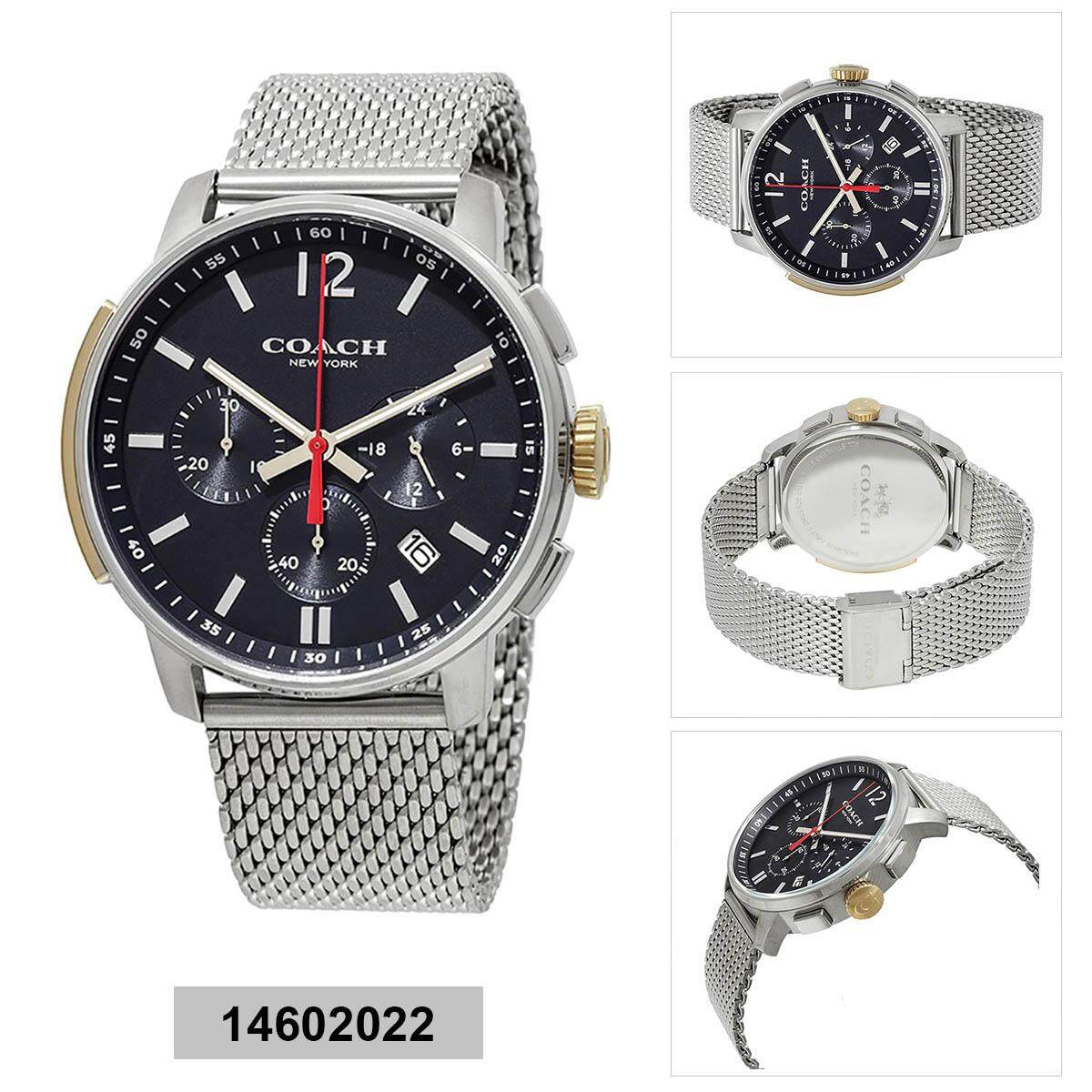 Coach Coach Bleecker Chronograph Silver Stainless-Steel Case Stainless-Steel Bracelet Mens 14602022 Malaysia