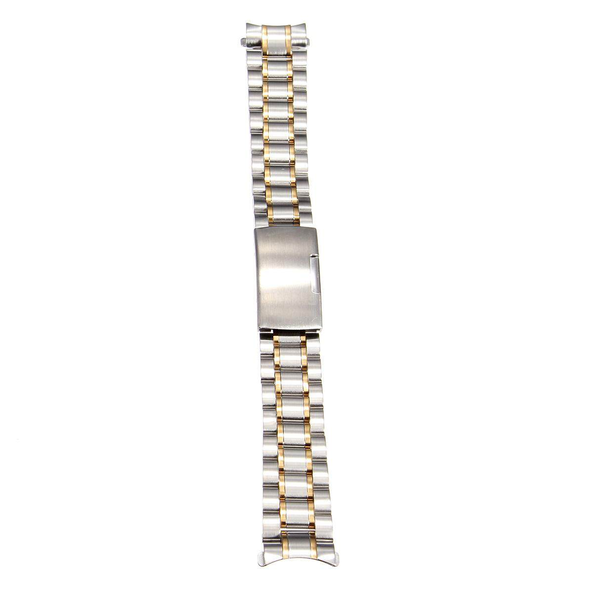 18mm Stainless Steel Bracelet Watch Band Strap Side Push Button Buckle Gold&Silver Malaysia