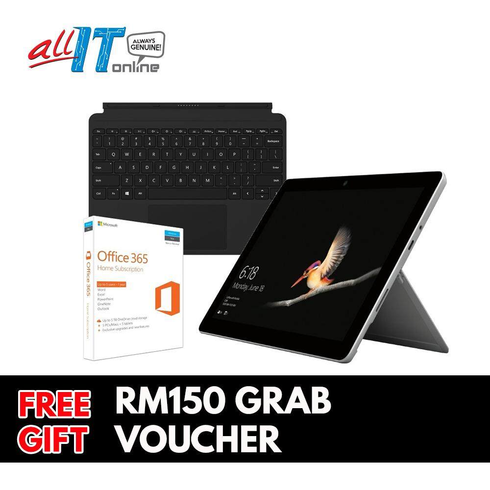 New Microsoft Surface Go [Intel 4415Y,4GB,64GB eMMC] Bundle With Type Cover + Office 365 Home Malaysia