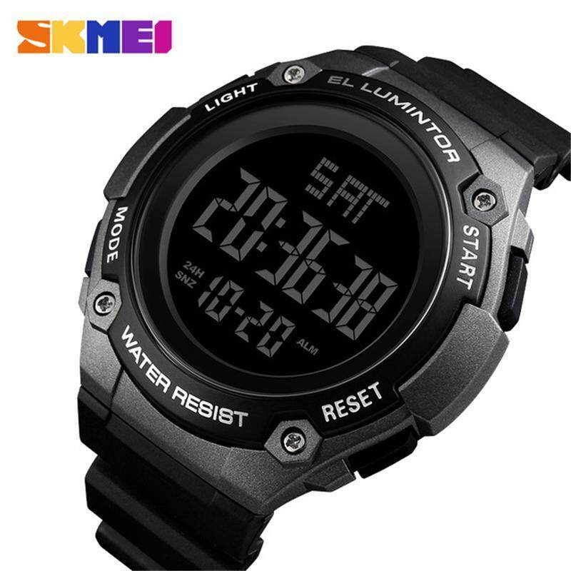 SKMEI Mens Watches Casual Waterproof Sports LED Digital Watch Men Fashion Outdoor Military Chronograph Watch Men Clock Malaysia