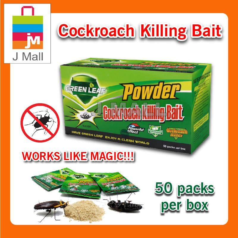 Powder Ant Killing Bait 50 Packs Per Box / Green Leaf Powder Cockroach Killing Bait 50 Packs Per Box By J Mall.