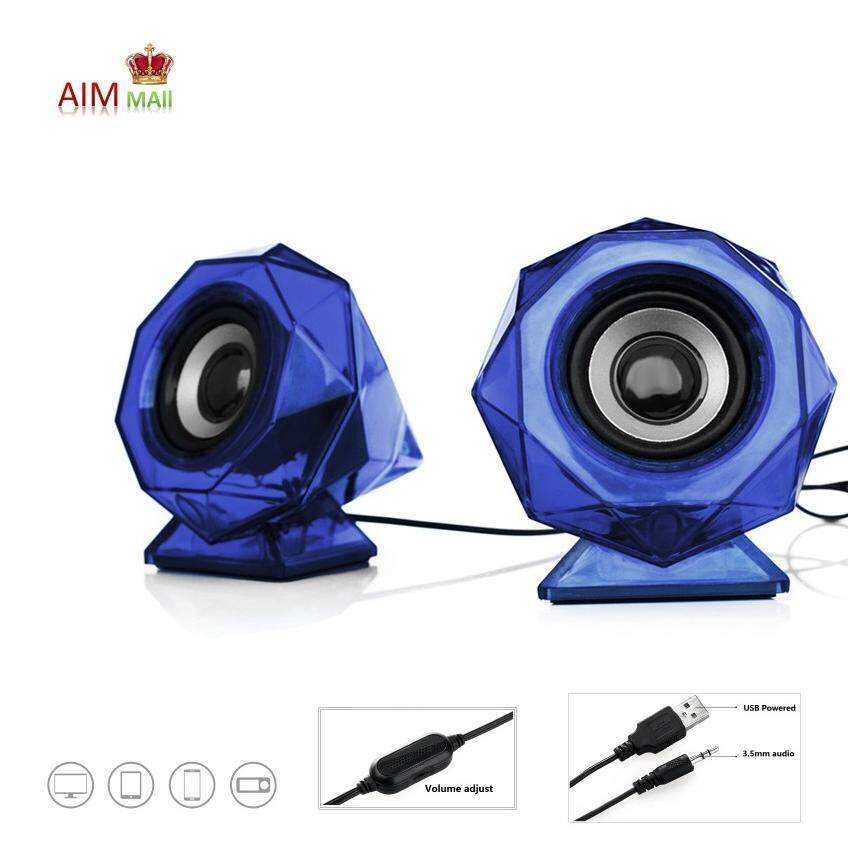 LOGICS 6W(RMS) 2.0 Stereo Diamond Shaped LED Lights USB Speaker Malaysia