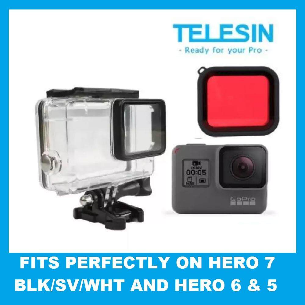 Telesin Gopro Hero7 Hero6 Hero5 Super Suit 30m Underwater Diving Waterproof Dive Housing Protective Case For Gopro Hero 7 5 6 Black By Atcetera Solutions.