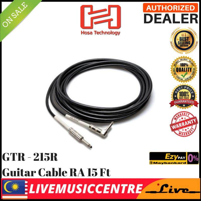 Hosa GTR-215R Guitar Cable, Right Angled, 15ft GTR215R Malaysia