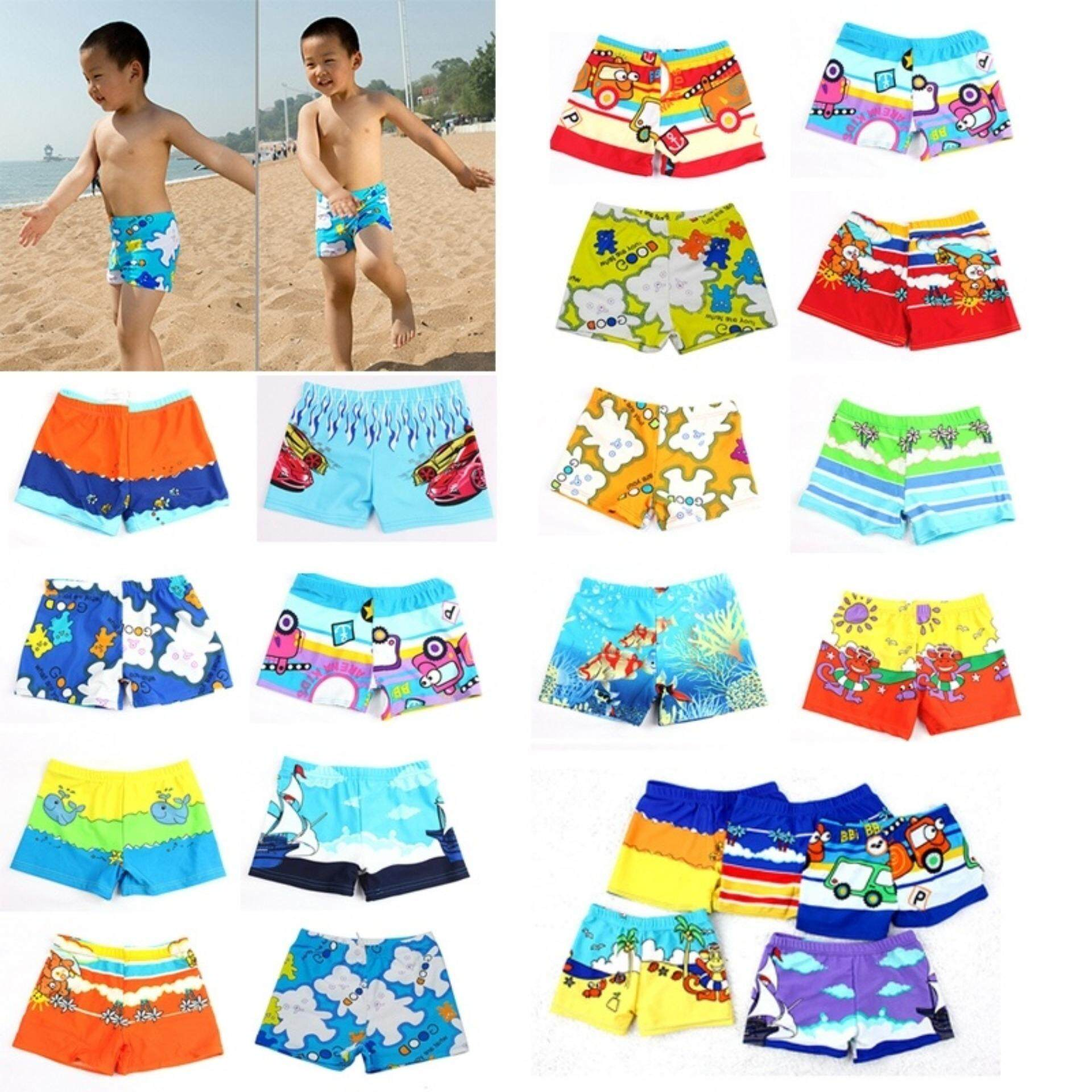 b103290377 Baby Boy Swimwear Cartoon Pattern Surfing Swim Trunks For Kids Colors  Random Medium