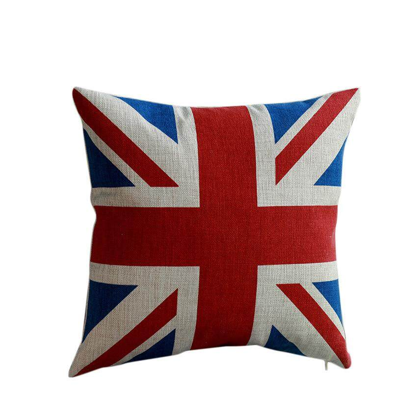 Abbottstore-Home Car Bed Sofa British Flag Decorative Classic Pillow Case Cushion Cover By Abbottstore.