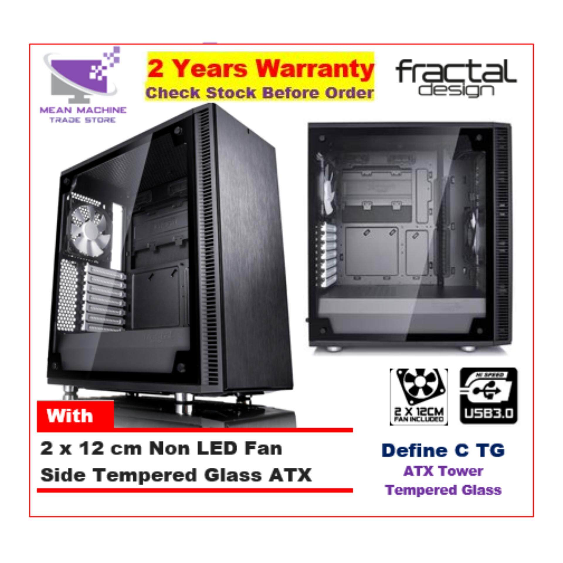 #Fractal Design Define C TG ATX Glass Window Chassis (2 X 12cm Fan Included) # Malaysia
