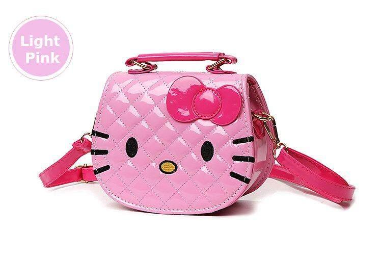 Korean Cartoon Design Cute Hello Kitty Sling Shoulder Messenger Bag Girl  Kids Handbag 6d2c13605a04a