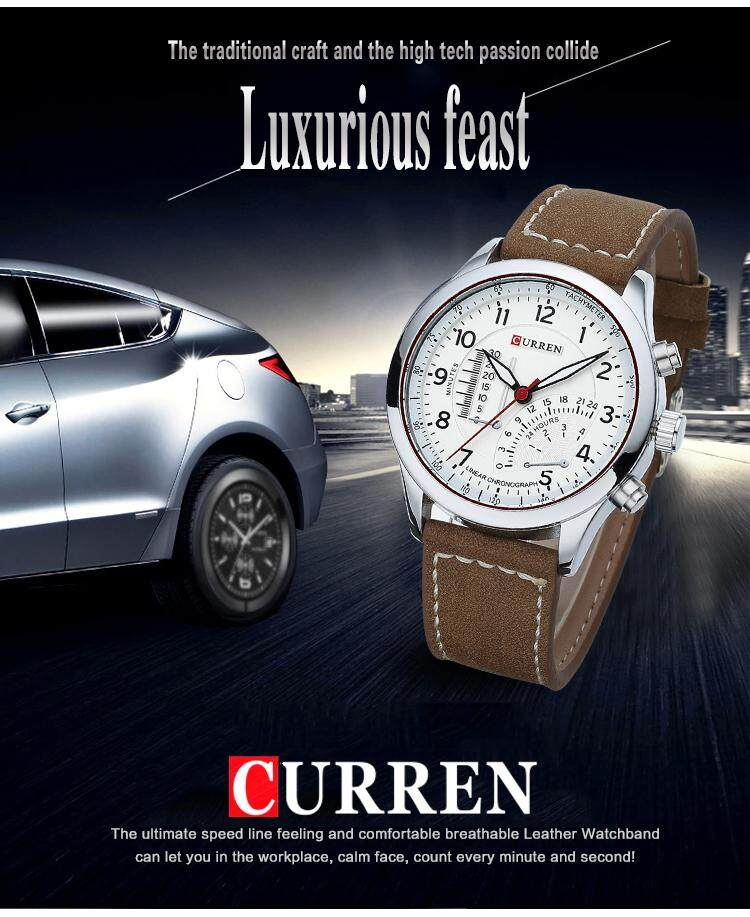 New Quartz Mens Watches Top Brand Luxury Business Men Wristwatches Men Military Sport Leather Calender Date Display Watch Malaysia