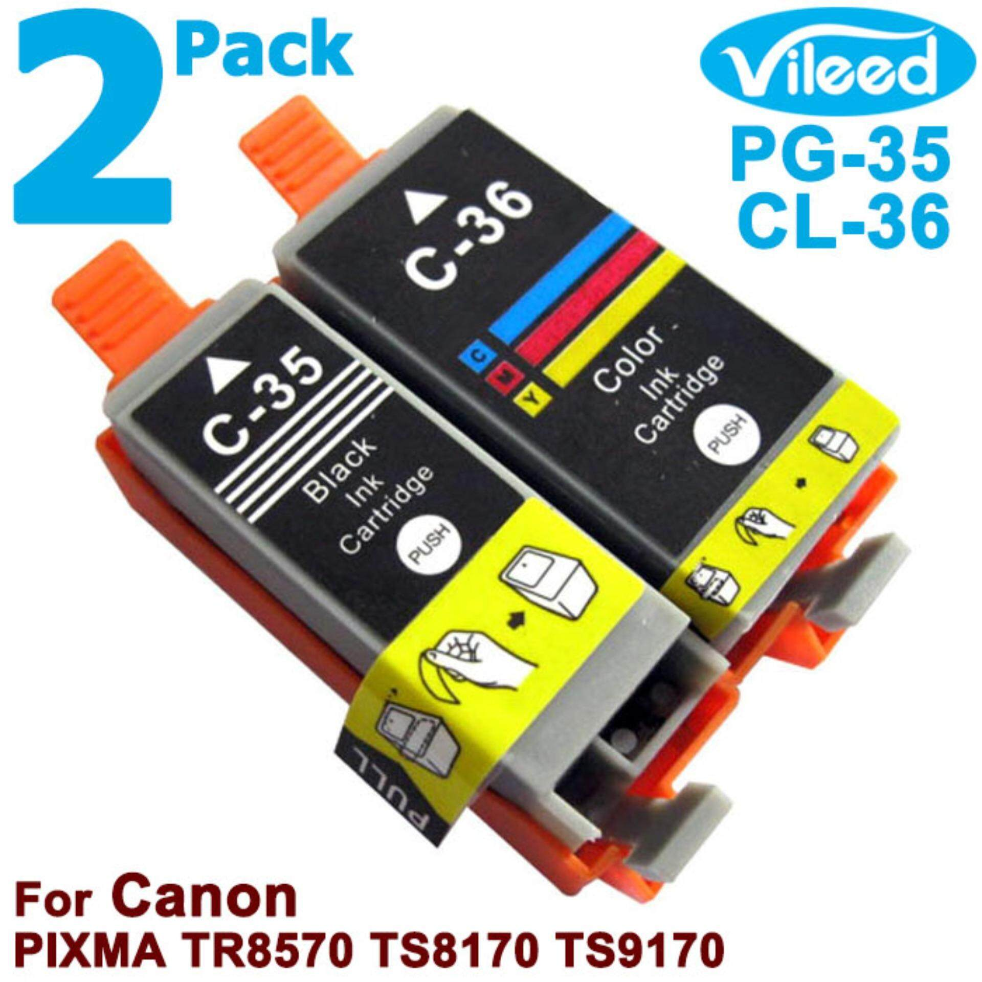 Buy Sell Cheapest Full Ink Cartridge Best Quality Product Deals Canon Cli 751 Yellow Xl Vileed 2 Pack Pg 35 Bk Cl 36 C For Combo Set Print Pg35 Black Cl36 Tri Color Replacement Inkjet