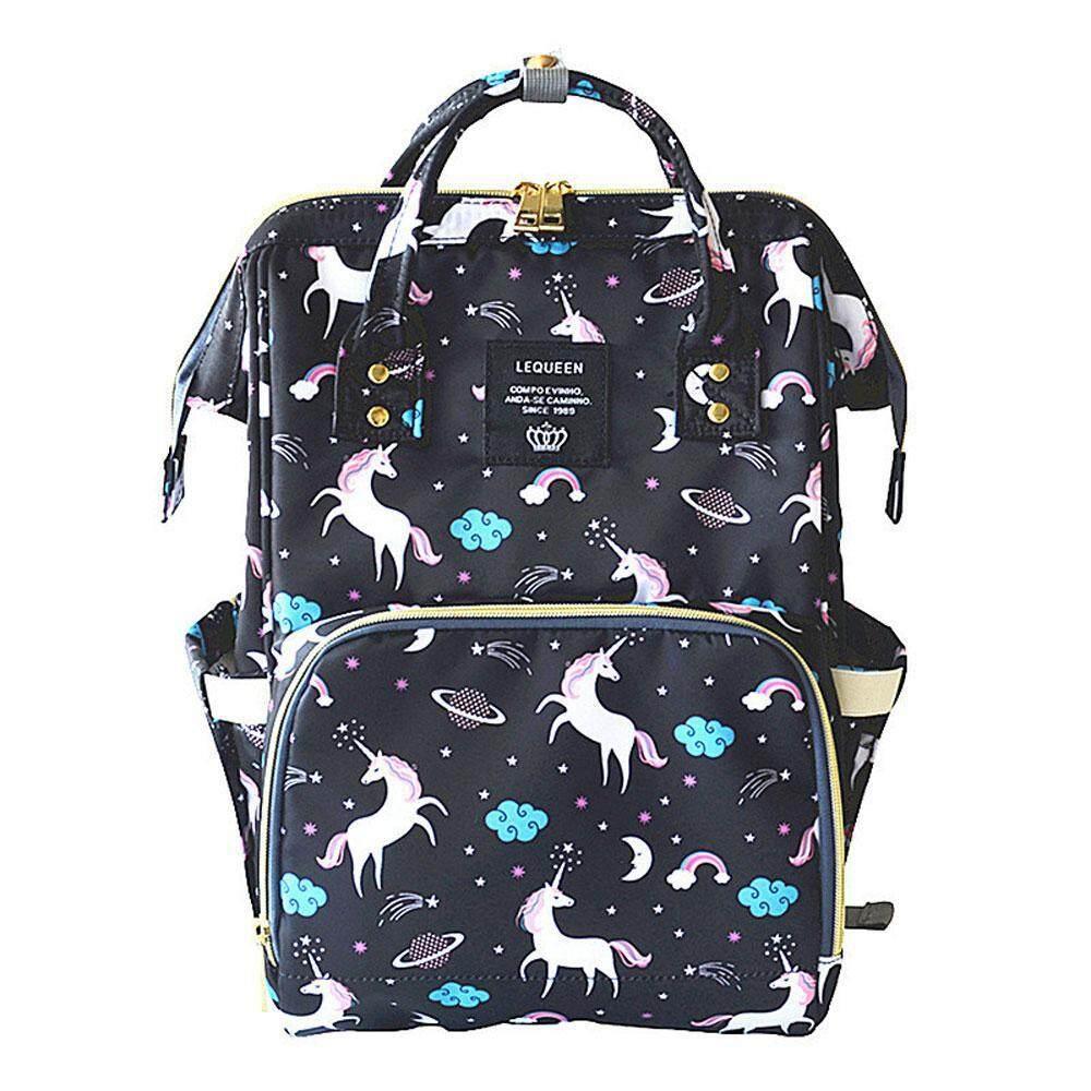 87c3fab1f290 EF-Cloud Mini Backpack Anti Theft Mothers Mummy Diaper Bagpack Bag Kawaii  Unicorn Baby Bottle