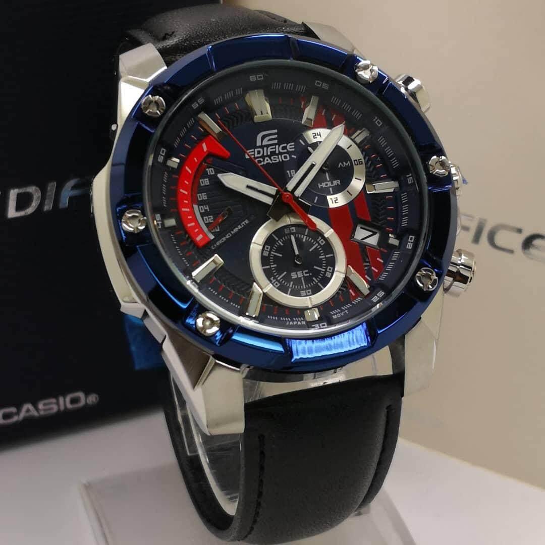 Blue Moon Valley Casio_Edifice 559Dy New Model All Function Fashion Men Leather Watch Jam Tangan Lelaki/Man Malaysia