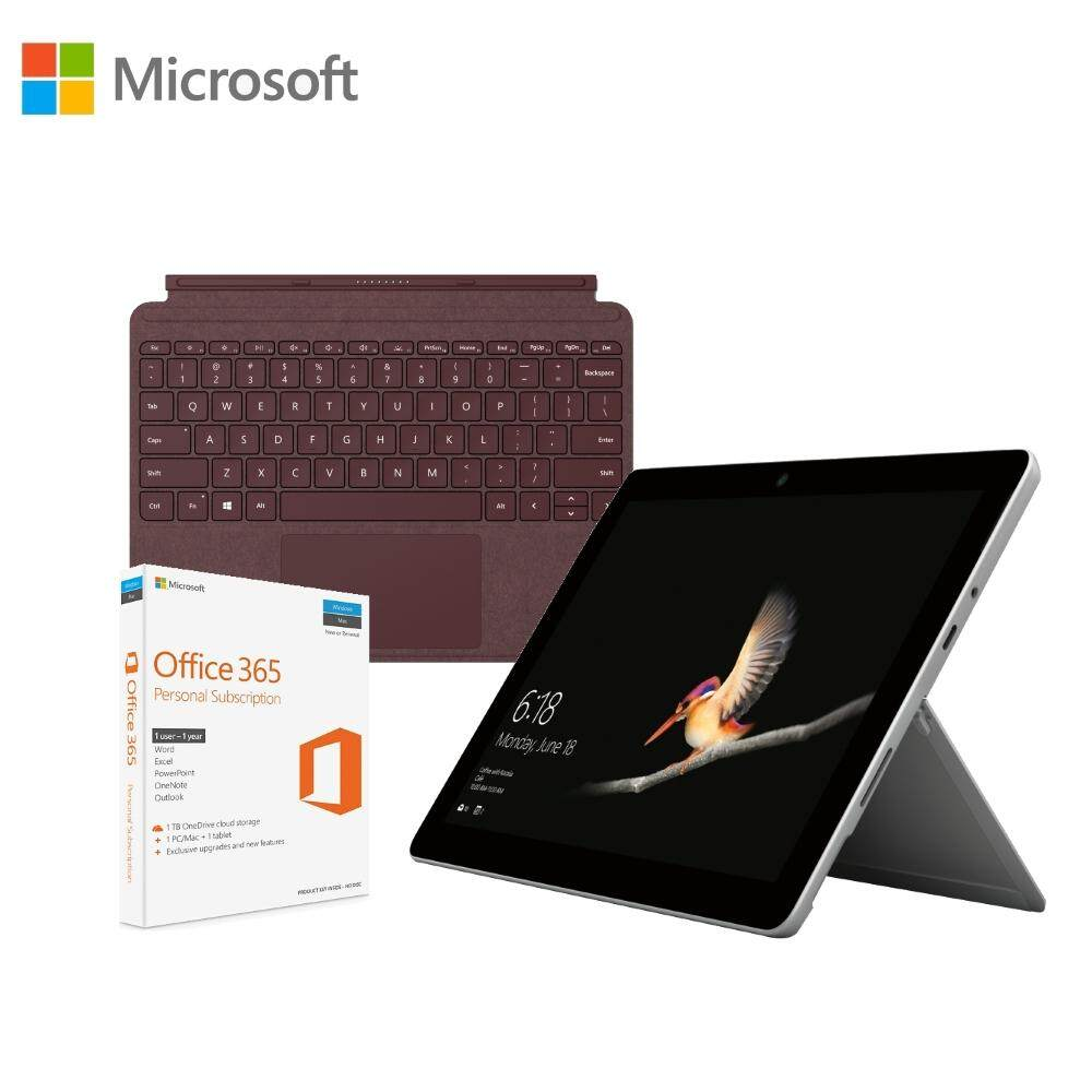 Microsoft Surface Go Intel Pentium Gold 4GB RAM / 64GB eMMC + Type Cover Black + Office 365 Personal Bundle Malaysia