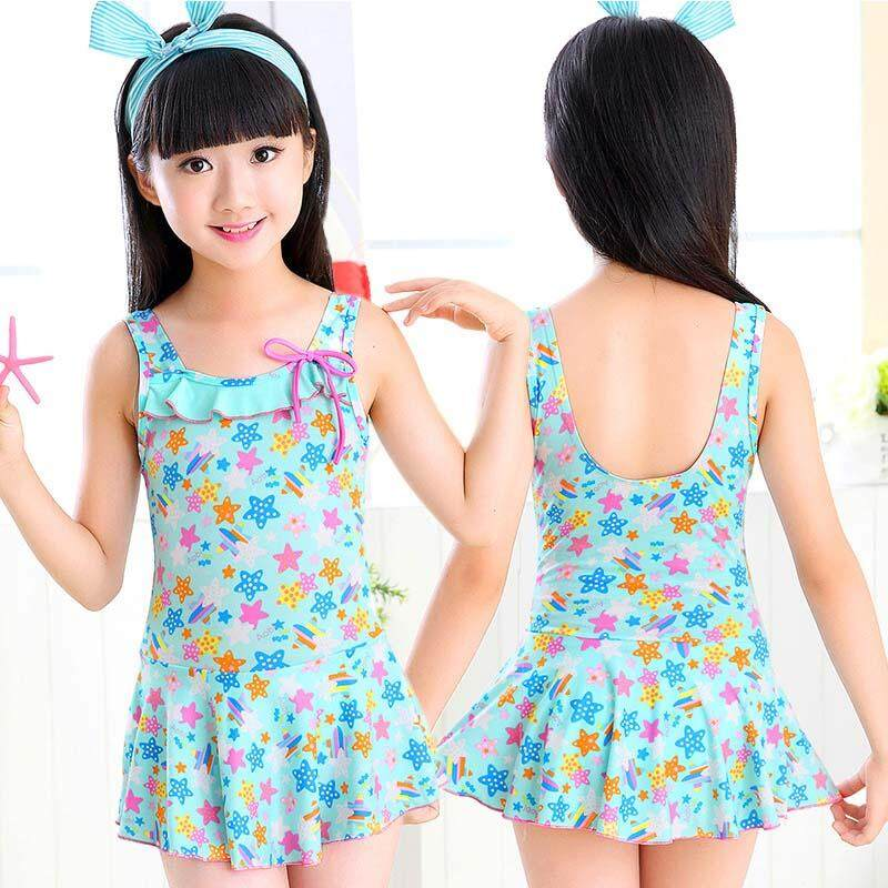 a9975db8ae Korean Fashion Kids Swimsuit Children Swimwear Girls Bikini Swimming Suit