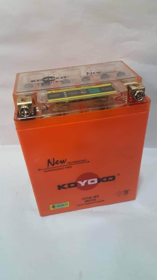 Koyoko Batter • (yb14l-Bs (bx14) 12v14ah/10hr Nano-Gel) By K.k Motorspareparts.