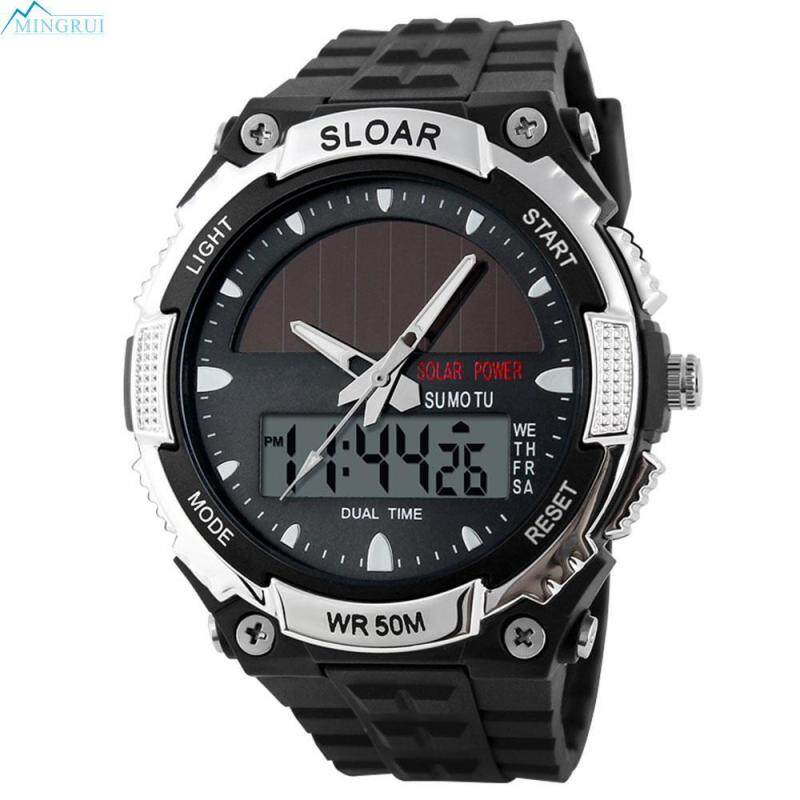 Mingrui Store ABS Solar Power Electronic Watches Solar Watch MenS Watch Malaysia