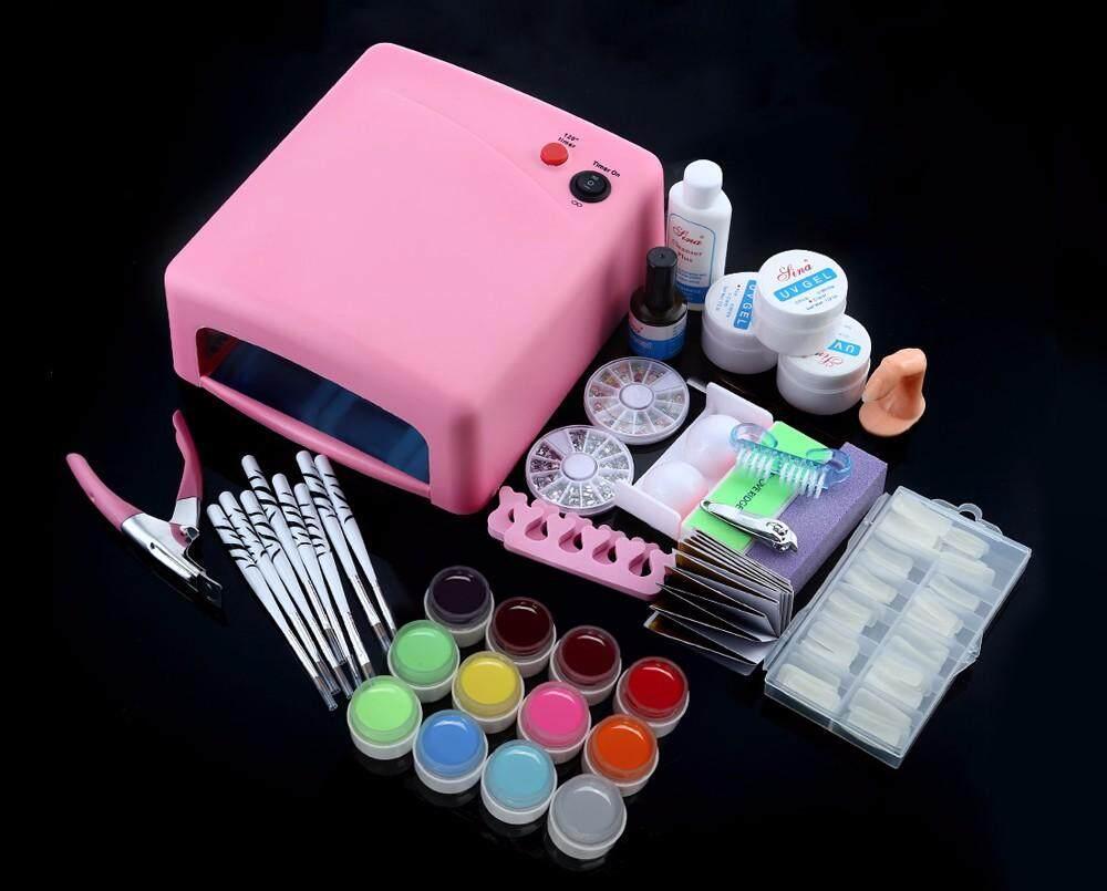 36W Cure Lamp Dryer UV Gel Nail Tools Full Set