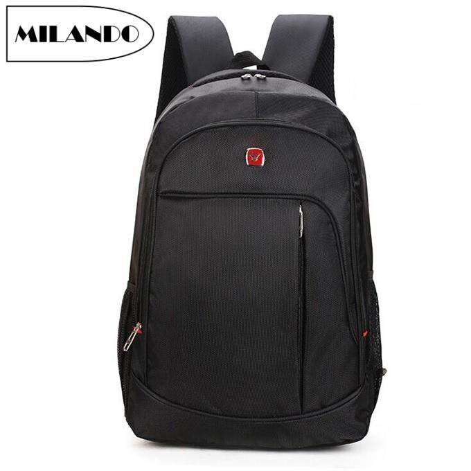 2bb9d8bdd2 MILANDO Trendy Stylist Laptop Notebook Backpack Travel School Bag Black  Series Beg Bags